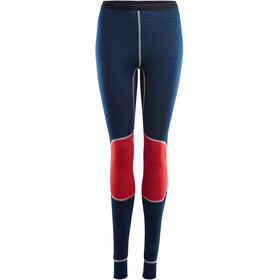 Aclima LightWool Reinforced Long Pants Dam insignia blue/high risk red
